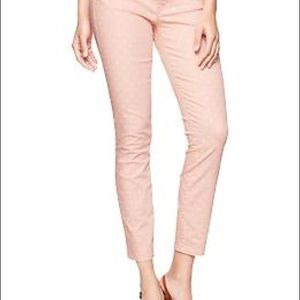 Gap 1969 Pale Peach Polka Dot Legging Jeans